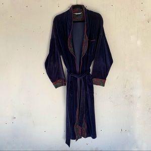 VTG Christian Dior Monsieur Blue Cotton Bath Robe